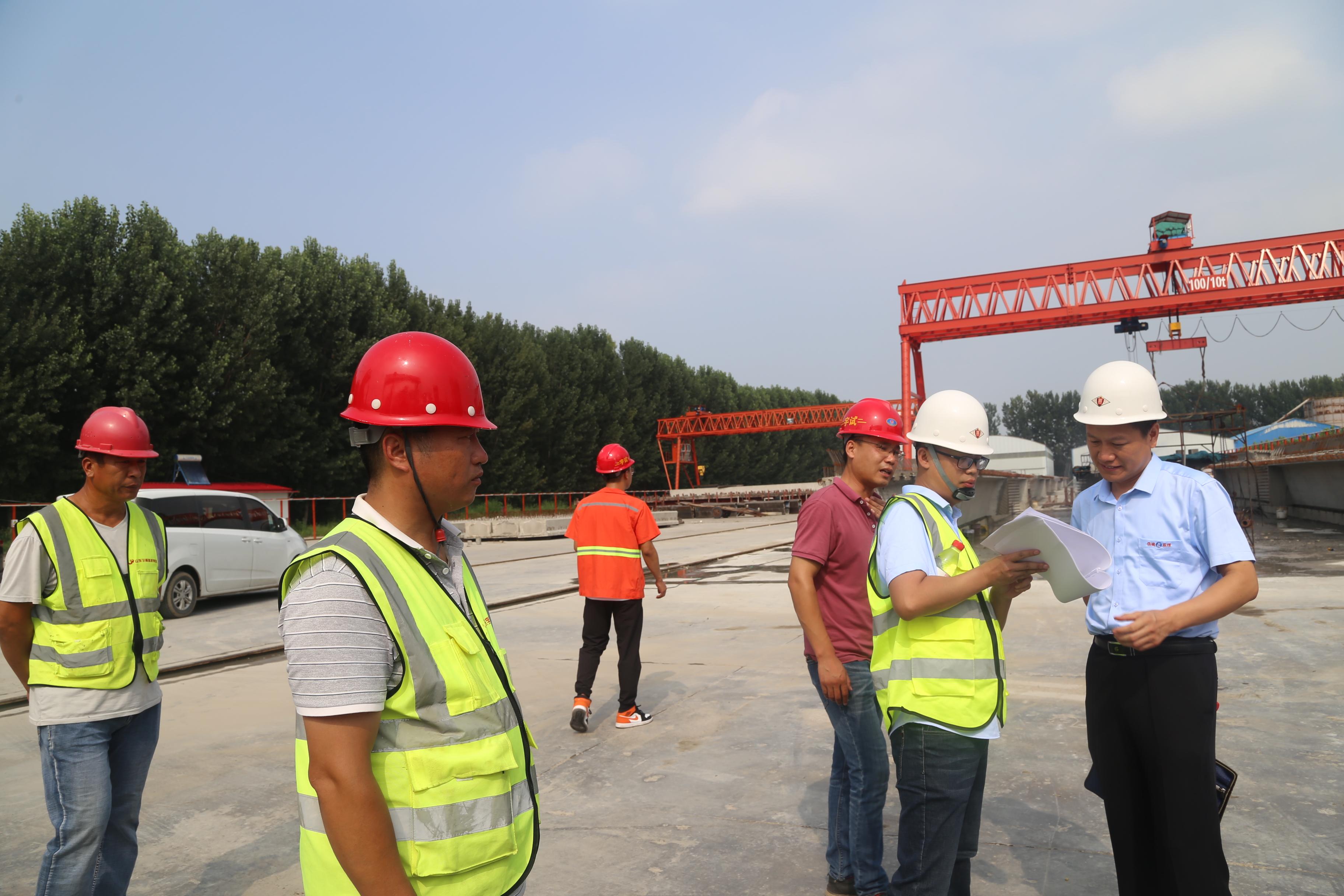 集团公司所属监理中心对在建项目进行质量安全综合检查