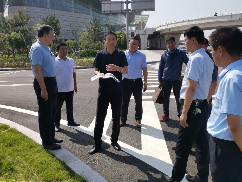 集团领导赴胜利机场周边环境综合提升工程现场调研
